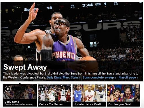 ESPN:横扫!马刺再见!