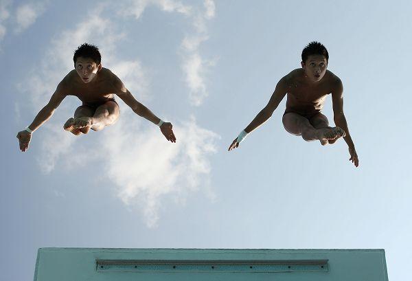 图文:美国大奖赛决赛次日 林跃杨礼光打开身体