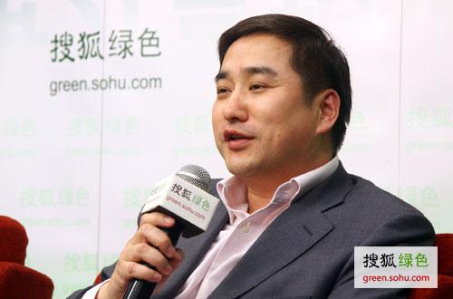 阿特斯公司北京办事处主任施亮 (搜狐绿色荣蓉/摄)