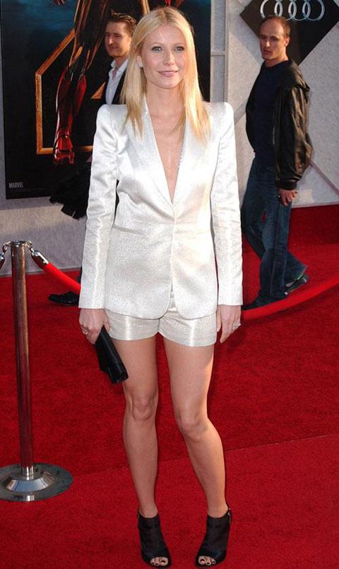 好莱坞街拍第54期:西装配短裤 格温妮丝-帕特洛