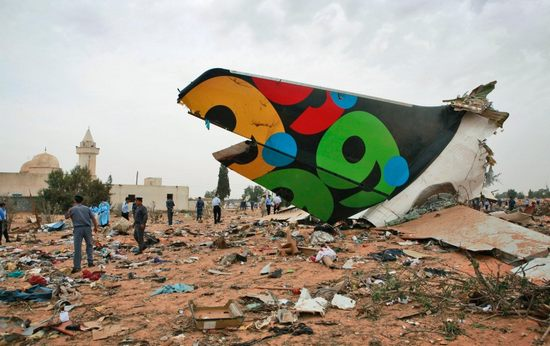 利比亚客机坠毁事故现场