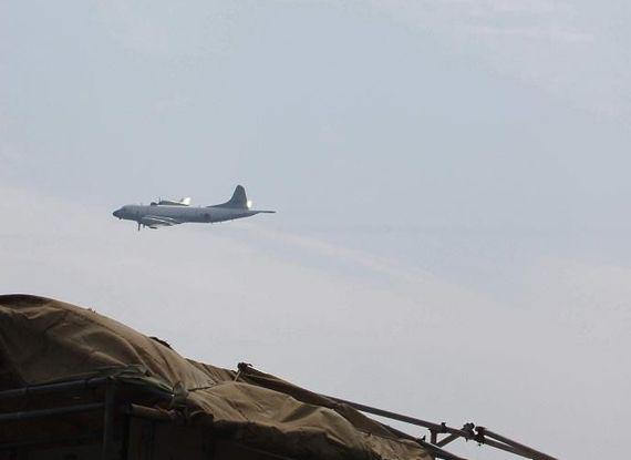 日本巡邏機在東海。