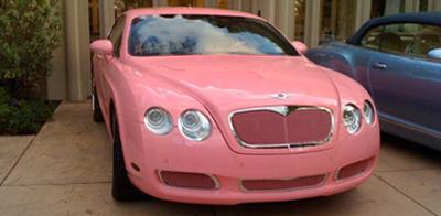 希尔顿/粉红色宾利