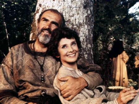 康纳利与赫本在《罗宾汉与玛丽安》中
