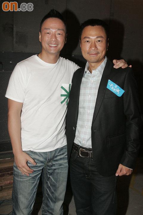 王喜(左)透露陈志云近日忙于做Gym及当义工