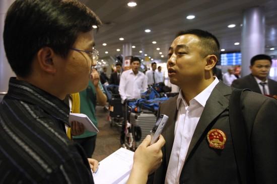 刘国梁接受采访