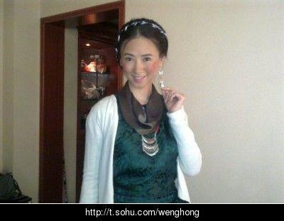 翁虹自曝藏族妇女造型