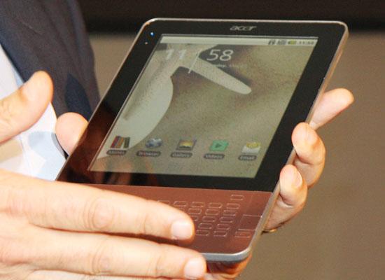图为Acer Android电子书产品
