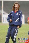 图文:[亚洲杯]女足备战日本 马自翔在训练中
