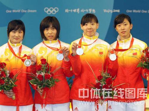 08奥运中国女佩团体摘银