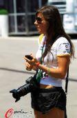 图文:土耳其站正赛场外花絮 美女摄影记者