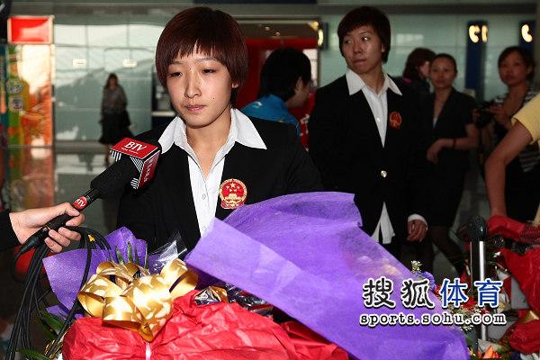 刘诗雯接受采访