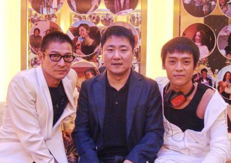 从左至右:刘德华、于冬、子义