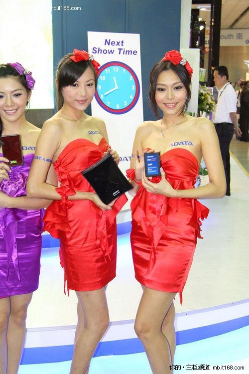 computex2010:威刚展台的美丽showgirl