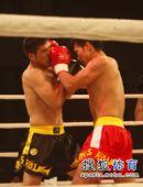图文:姜春鹏KO伊朗选手 摩加塔巴鼻子中招