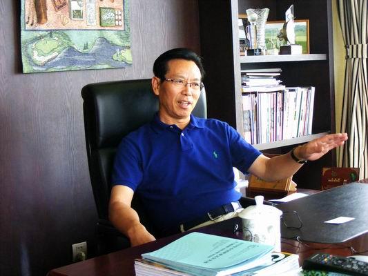 戴苏奇接受搜狐高尔夫记者的采访