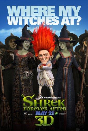 《怪物史莱克4》海报