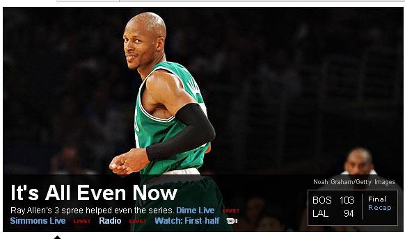 ESPN:现在是雷阿伦时刻