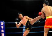 图文:姜春鹏KO伊朗选手 摩加塔巴出腿