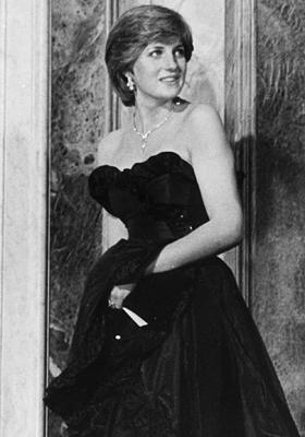 戴安娜王妃黑色礼服明拍卖 估价7.2万美元