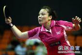 图文:内蒙古女团3-1胜江苏 王越古在比赛中