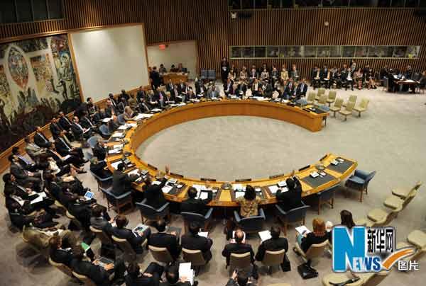 6月9日,在美国纽约联合国总部,联合国安理会就 伊朗核问题通过决议,决定对伊朗实行自2006年以来的第四轮制裁。新华社记者申宏摄