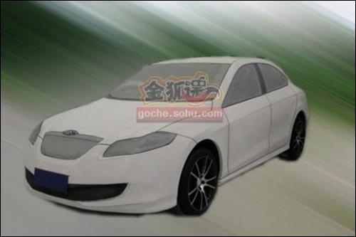 上图为09年初搜狐曝光的B16油泥模型