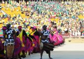 图文:2010南非世界杯开幕式举行 舞者兴奋起舞