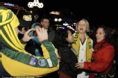 图文:南非球迷聚集悉尼 为主队加油