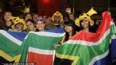 图文:南非球迷聚集悉尼 球迷们表达对主队支持