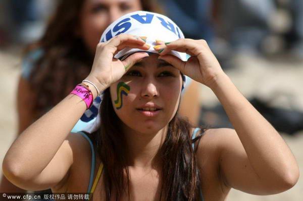 图文:世界杯美女球迷大PK 可爱的墨西哥女球迷