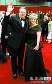 07年,戈尔夫妇出席奥斯卡颁奖礼