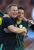 图文:斯洛文尼亚1-0阿尔及利亚 主帅凯克兴奋