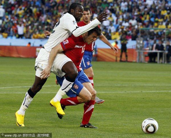图文:加纳1-0绝杀塞尔维亚 无所畏惧