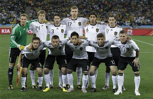 图文:德国VS澳大利亚 德国队首发