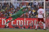 图文:荷兰队战胜丹麦队 索伦森扑救
