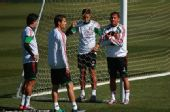 图文:墨西哥队备战训练世界杯 等待训练