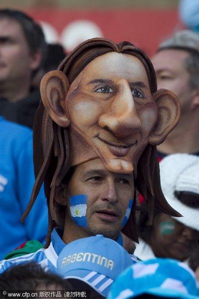 球迷演绎 面具世界杯 阿根廷球迷