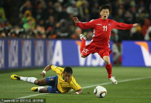 朝鲜队员跳芭蕾