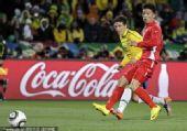 幻灯:巴西2-1朝鲜 埃拉诺推射得分多角度回放