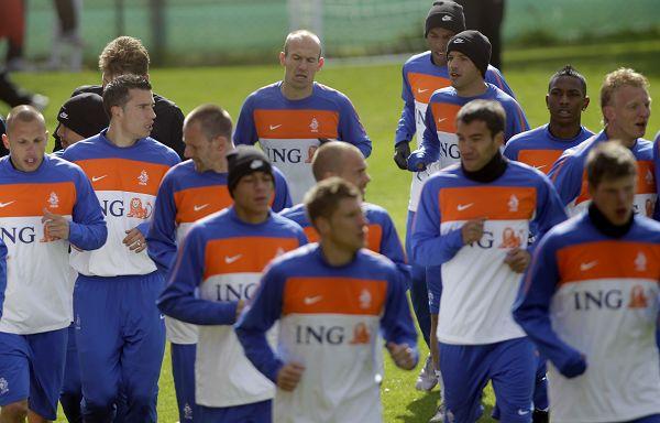 图文:荷兰队积极备战世界杯 全队训练