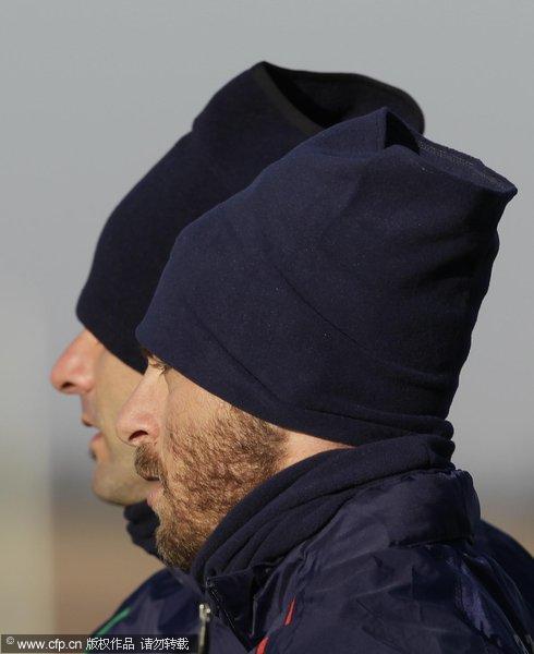 棉袄帽子一起上阵