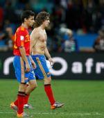 图文:瑞士1-0爆冷击败西班牙 普约尔黯然离开