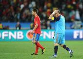 图文:瑞士1-0爆冷击败西班牙 卡西利亚斯懊恼