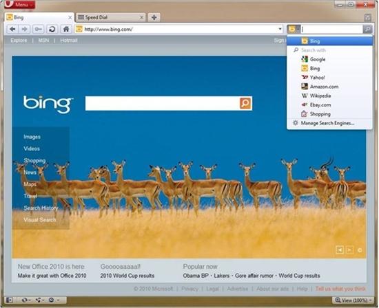 冰释前嫌?Opera整合微软Bing搜索