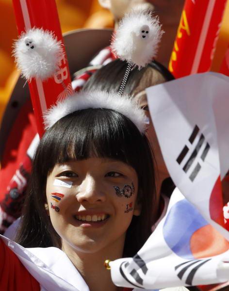 韩国美女球迷