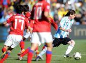 图文:阿根廷4-1大胜韩国 梅西进攻能力超群