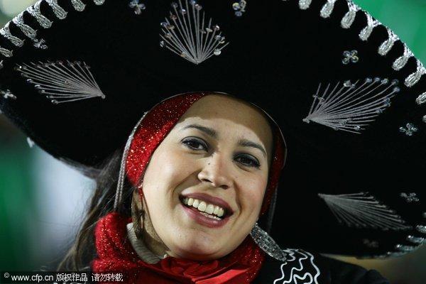 墨西哥美女迷人笑容