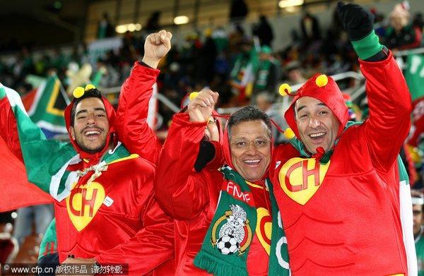 墨西哥球迷庆祝