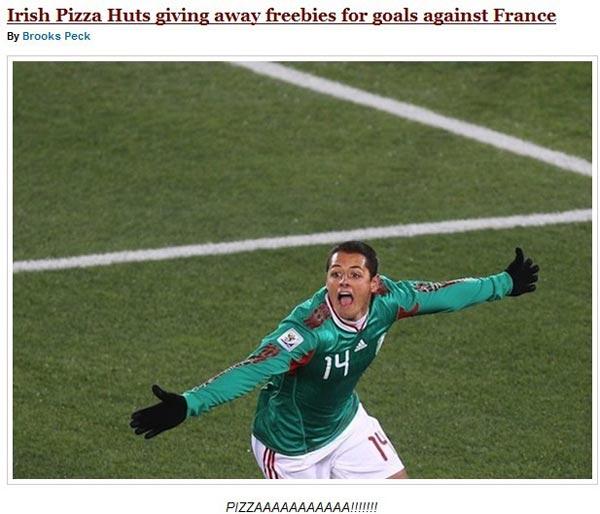 法国你丢球 爱尔兰我送匹萨